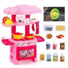 Bộ đồ chơi nấu ăn Nhà bếp Hồng + Tặng con quay Led