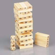 Bộ đồ chơi rút gỗ 54 thanh + 4 xúc xắc