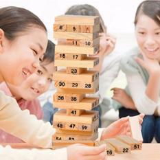 Bộ đồ chơi rút gỗ 54 thanh kèm 4 xúc xắc