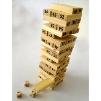 Bộ đồ chơi rút gỗ 54 thanh kiểu Nhật