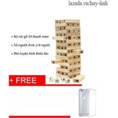 Bộ đồ chơi rút gỗ 54 thanh tặng ốp iphone 6+ 6s+ cực chất