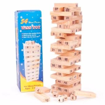Bộ Đồ Chơi Rút Gỗ Wiss Toy 54 Pcs (Nâu)