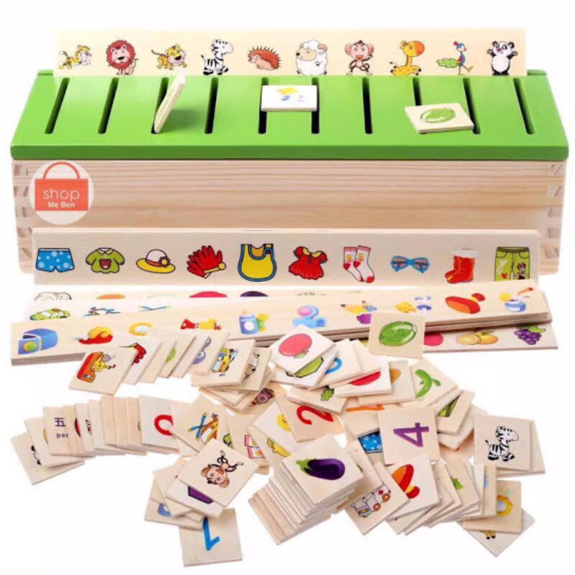 Bộ đồ chơi thả hình bằng gỗ theo chủ đề giúp bé phát triển khả năng quan sát