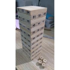 Bộ đồ chơi thông minh rút gỗ 54 thanh kiểu nhật