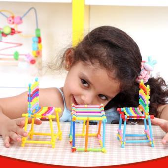 Bộ đồ chơi xếp hình dạng que - Phát triển tư duy và tính sáng tạo cho bé