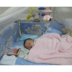 Bộ Gối Mền Cho Bé, Trang bị chăn lưới cho bé mẫu HA003, bán đồ trẻ sơ sinh – Mua chăn lưới cao cấp ( Hàng đẹp) + Chăm sóc bé yêu đúng cách