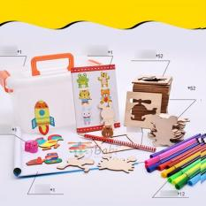 Bộ khung gỗ vẽ tranh và tô màu cho bé