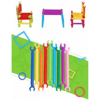Bộ lắp ghép đồ chơi sáng tạo (hơn 400 thanh ghép)