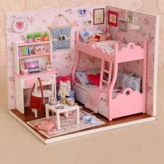 Bộ lắp ghép mô hình nhà gỗ phát triển tư duy sáng tạo cho bé (Hồng)
