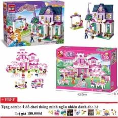 Bộ lego xếp hình combo 02 bộ Sluban0150+Enlighten 2608 cho bé gái