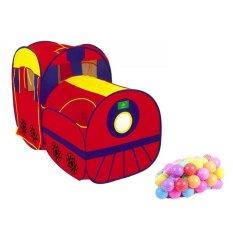 Bộ lều banh tàu hỏa và 50 banh nhựa phi 70