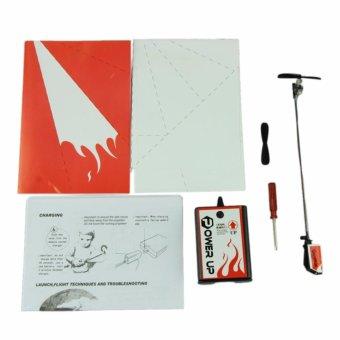 Bộ máy bay gập giấy có gắn động cơ Power Up 2.0 (Đỏ) - 2