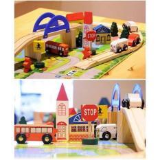 Bộ mô hình giao thông thành phố bằng gỗ