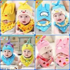 Bộ mũ khăn cho bé ( MÂU BÉ GÁI )