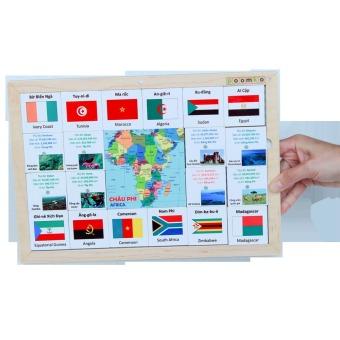 Bộ nhận biết cờ quốc tế Châu Phi Poomko EB02.14 - 2