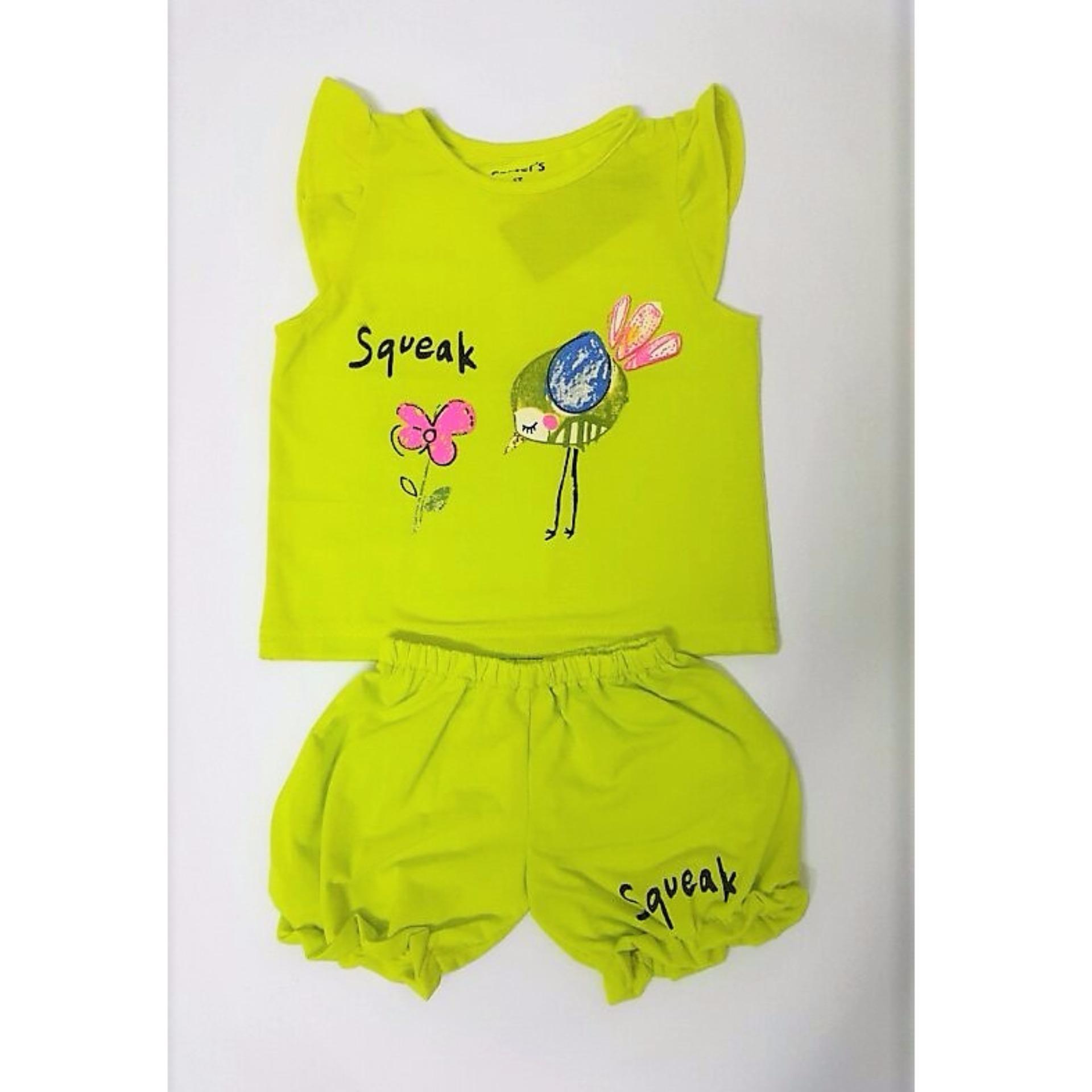 Bộ quần áo bé gái cực xinh (màu vàng)
