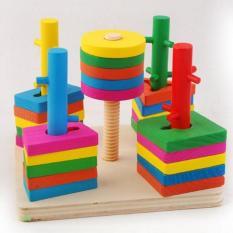 Bộ Thả hình 3D đế vuông 5 trụ