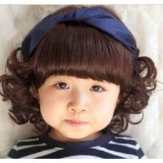 Bộ tóc giả xoăn nguyên đầu cho bé