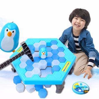 Bộ trò chơi bẫy chim cánh cụt - phá băng (Xanh trắng)