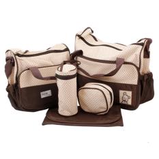Bộ túi đựng đồ cho mẹ và bé 5 chi tiết BL TX00180-BR (Nâu)