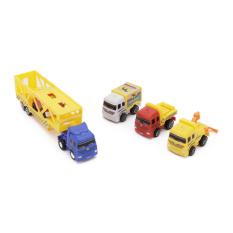 Bộ xe mô hình ô tô cứu hộ chạy đà nhập khẩu Nhật Bản