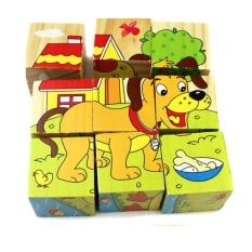 Bộ xếp hình 6 mặt 9 chi tiết – đồ chơi gỗ trí tuệ cho bé