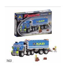 Bộ xếp hình ô tô tải Kazi 163 chi tiết
