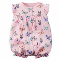 Vì sao mua Bodysuit áo liền quần in họa tiết đàn bướm sặc sỡ cho bé gái giá rẻ