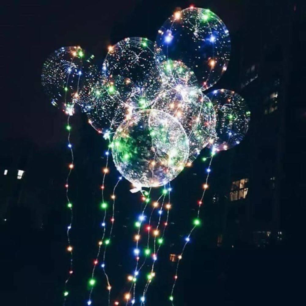 Cửa hàng bán Bóng bay đèn led nhấp nháy galaxy trang trí tiệc, lễ cưới, nhà hàng