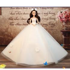 Búp Bê Cô Dâu 3D Váy Trắng Xinh Xắn + Tặng Phụ Kiện 8 Món