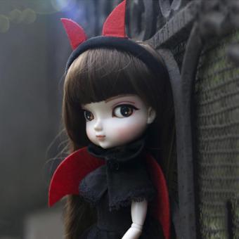 OE680TBAA8BO70VNAMZ-16060725 - Búp Bê Khớp Cầu 1/6 Bjd - Bb Girl Doll 35 Cm (tóc nâu, đầm đen)