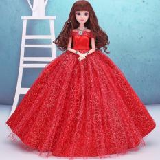 Búp Bê Khớp Cô Dâu Xinh Đẹp ( Đỏ ) Tặng Kèm 3 Váy Ngắn
