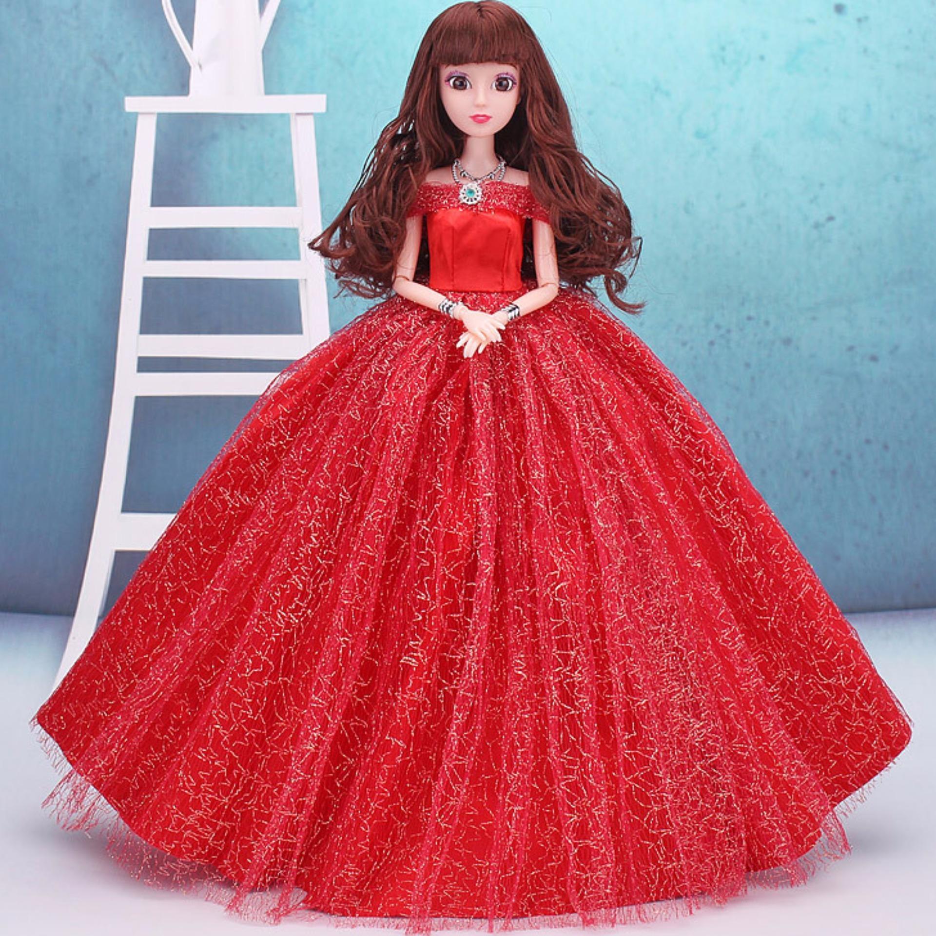 Chỗ nào bán Búp Bê Khớp Cô Dâu Xinh Đẹp ( Đỏ ) Tặng Kèm 3 Váy Ngắn