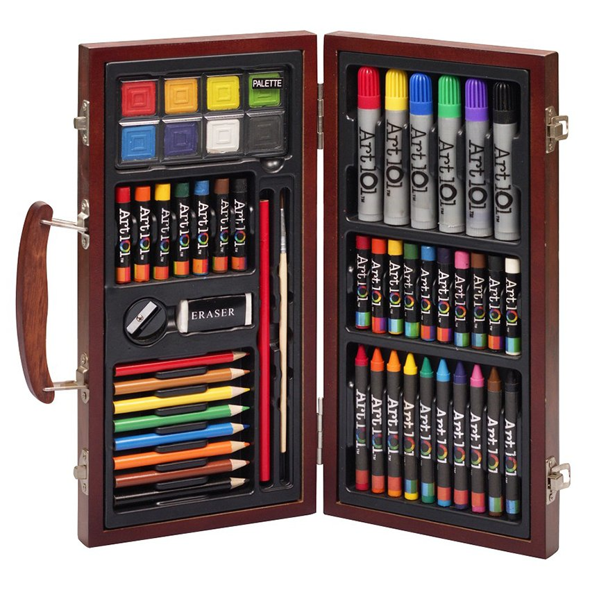 Bút màu hộp gỗ Colormate MS-55W