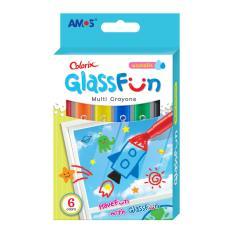 Bút Sáp Vẽ Trang Trí Trên Kính Hàn Quốc AMOS Glass Fun 6 Màu
