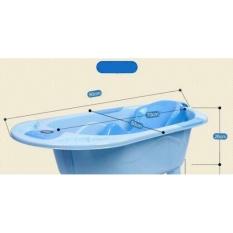 Chậu tắm có nhiệt kế đo nhiệt độ nước tắm (Xanh) – Kmart