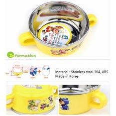 Chén Tập Ăn Inox Baby Hàn Quốc TERRA 230ml 2 Quai Cầm SK3 Vỏ Ngoài Bằng Nhựa PP