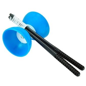 Chinese Yo-Yos Diabolo Juggling Spinning Toy with Hand Sticks Blue - Intl