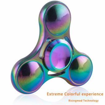 Colourful Aluminum Hand Spinner Stress Relief Toy - intl