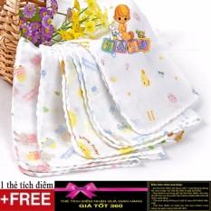 ComBo 10 khăn xô nhật hoa văn loại dày cao cấp + tặng thé tích điểm Gía tốt 360
