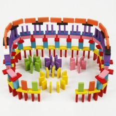 Combo 2 bộ đồ chơi Domino bằng gỗ 240 quân nhiều màu