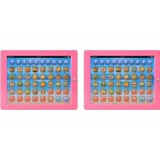 Combo 2 bộ Máy tính bảng thông minh cho bé học chữ số phép tính và đánh vần