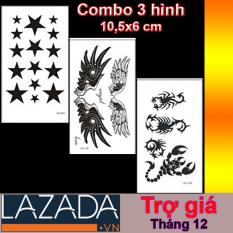 COMBO 3 HÌNH XĂM DÁN LAZADA TRỢ GIÁ – MIX 1