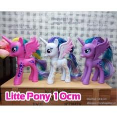 Combo 3 Mô hình Ngựa Pony 10cm (Loại có tóc)