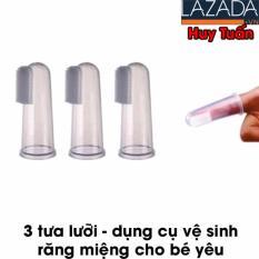 Combo 3 rơ lưỡi silicon – dụng cụ vệ sinh lưỡi cho bé yêu tiện dụng