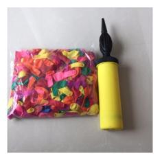 Combo Bịch bong bóng thổi cho bé đủ màu loại nhỏ (500 cái) + Ống bơm bong bóng nhanh chóng tiện dụng (Màu ngẫu nhiên) BVF-F1