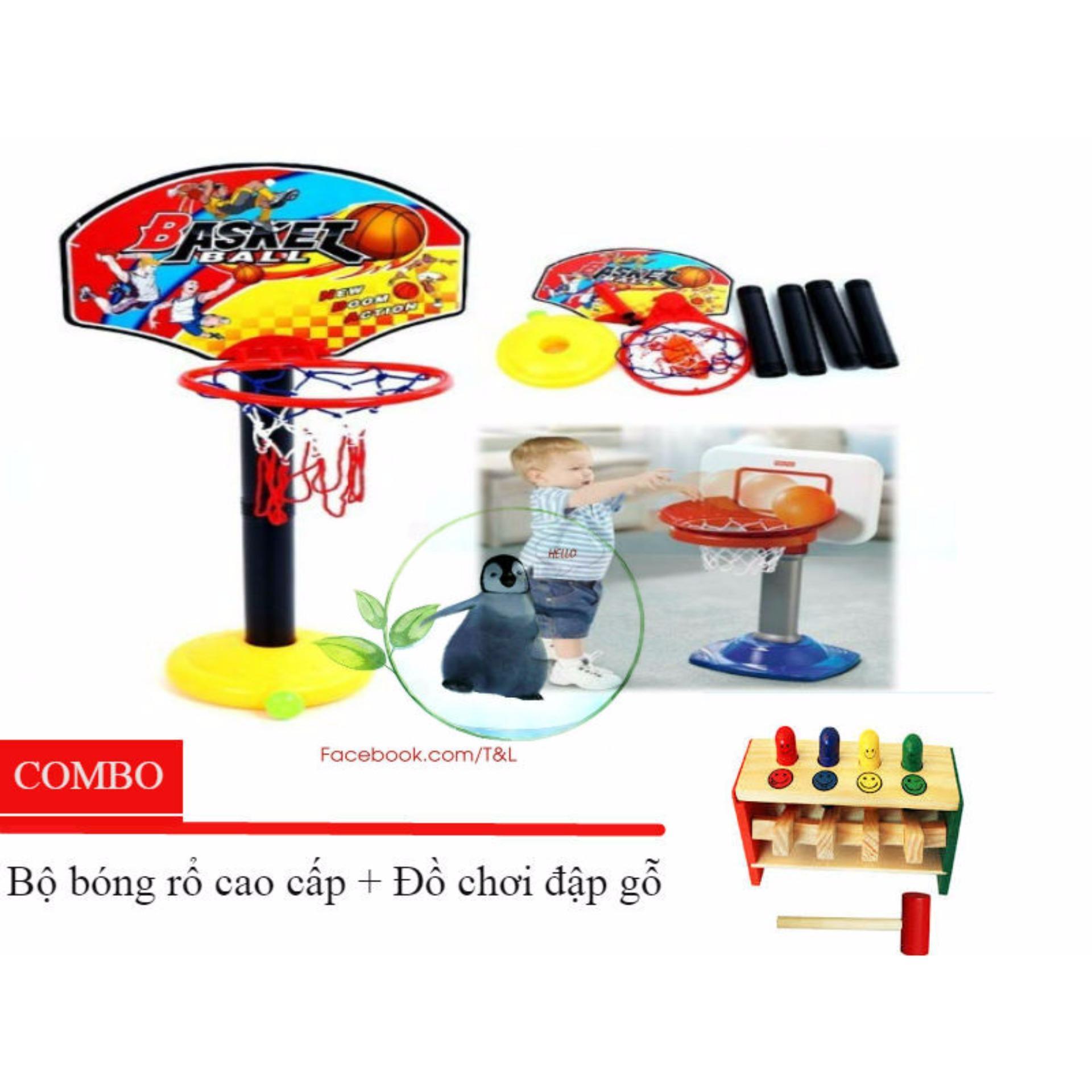 Combo đồ chơi bóng rổ và đập gỗ