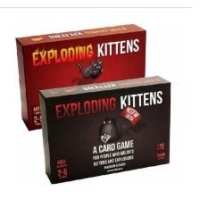 Combo Exploding Kitten 02 bộ Mèo nổ cơ bản Đen + Đỏ (Bản Xịn Chơi Cùng bản mở rộng)