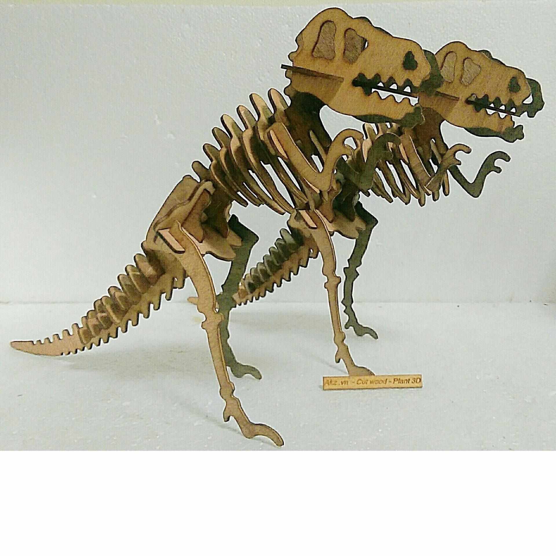 Con khủng long T Rex 500mm 3d puzzle