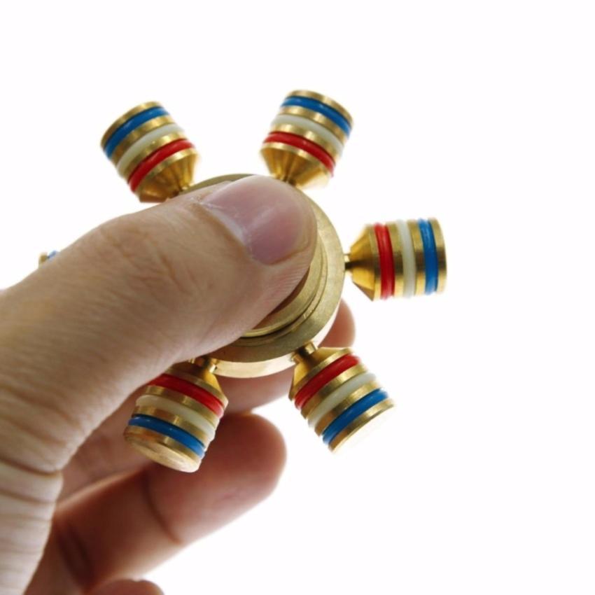Hình ảnh Con quay Fidget Spinner 6 cánh bánh lái cực đẹp
